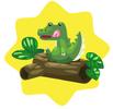 Crocodile plushie