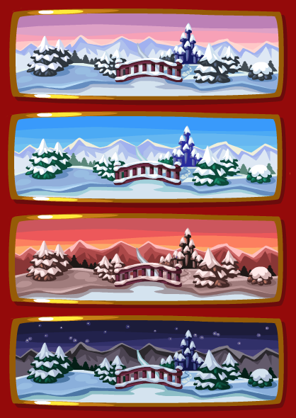 Snowy palace real time wallpaper expanded