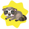 Baby raccoon plushie