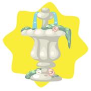 Ancient stone fountain