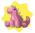 Pink dino plushie