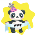 Wwf panda with banner