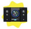 Black luxury hi-fi