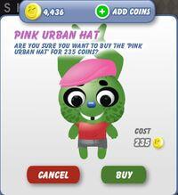 Pink Urban Hat