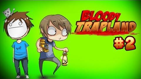 THE FURRY ADVENTURES CONTINUES! D - Pewds & Cry Plays Bloody Trapland - Part 2