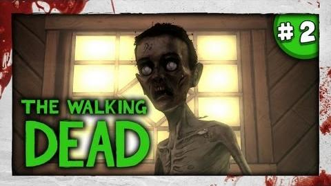 SLENDY? - JUMPSCARE D - The Walking Dead Episode 4 - Part 2 - Around Every Corner