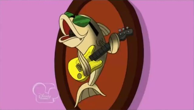 File:Singing trout on wall.jpg