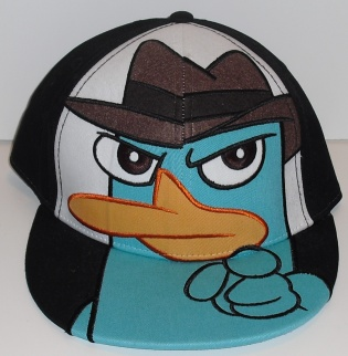 File:Agent P pointing embroidered adult baseball cap.jpg