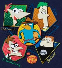 Cast of Phineas and Ferb organic t-shirt
