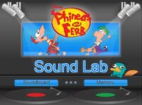 Phineas and Ferb - sound lab title screen