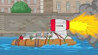 Team Phineas Rafting Through Venice