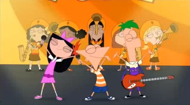 File:Phineas, Ferb, and Isabella SBTY.JPG