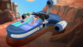 Phineas and Ferb on a Speeder