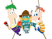 Phineas and Ferb Platypus Day logo, by hannahml