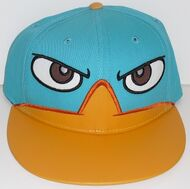 Perry face adult baseball cap with embroidered bill
