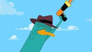 Agent P facepalming