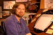 Dan at drawing board