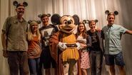 Dee Baker with Tom Kane, Ashley Eckstein, Matt Lanter, Catherine Tabor, & James Arnold Taylor