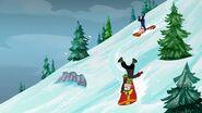 Snowboarding upside down