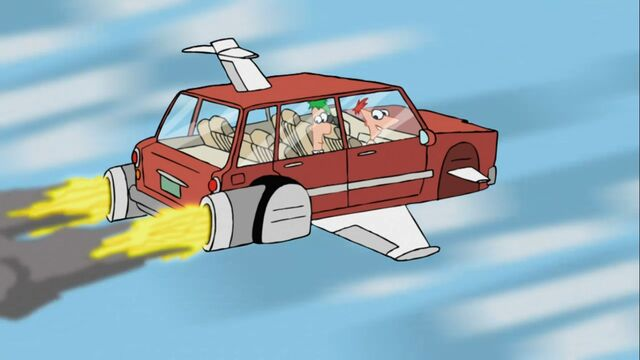 File:Phineas and Ferb On The Flying Car Of The Future, Today.jpg