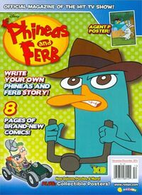 Phineas and Ferb magazine November-December 2014 cover