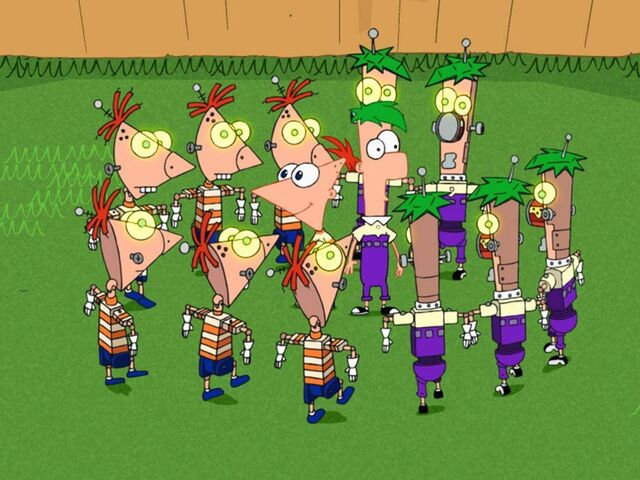 File:Phineas and Ferb with robots.jpeg