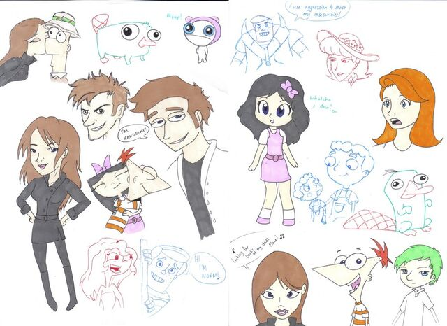 File:Phineas and Ferb Sketches, by ccootttt.jpg