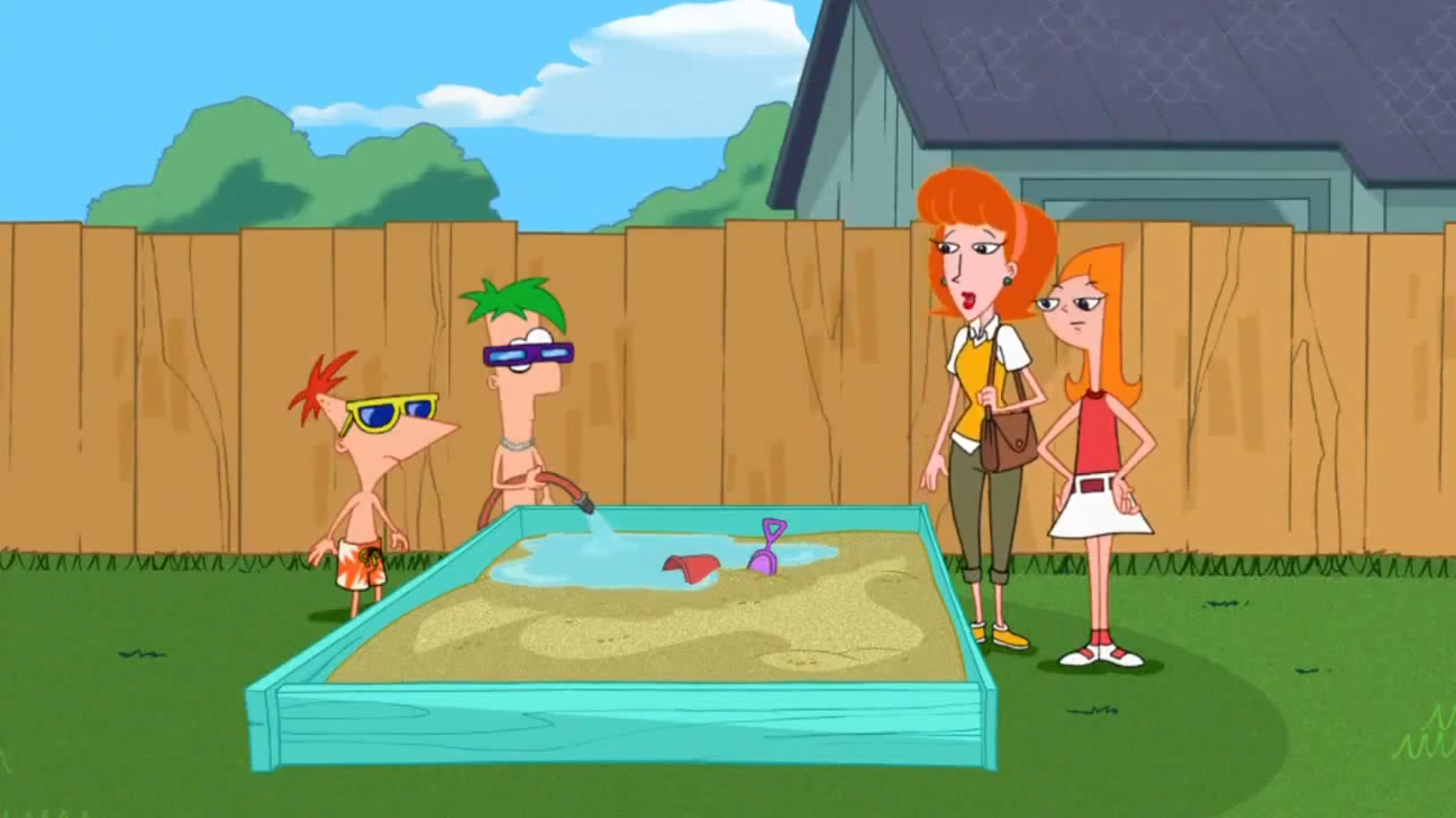 image lawn gnome beach party of terror09 jpg phineas and ferb