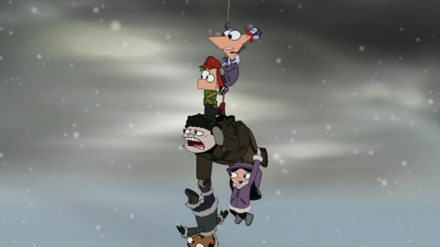 File:Phineas and the gang dangling from rope.png