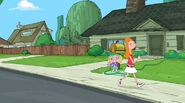 Candace walking past Jeremy's house 2