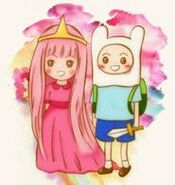 185px-1 princess bubblegum and finn by frappeybear-d4vtxa1