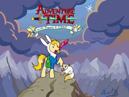 11mlp adventure time with fionna and cake by fuutachimaru