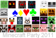 Minecraft Party 2011 Poster