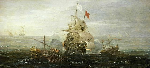 File:640px-French ship under atack by barbary pirates.jpg