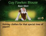 Guy Fawkes Shirt Female