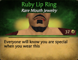 Ruby lip ring - clearer