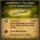 Landlubber's Sea Chart Card