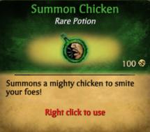 Summon Chicken potion