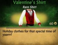Valantines shirt