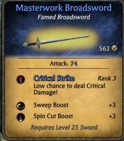 Masterwork Broadsword New