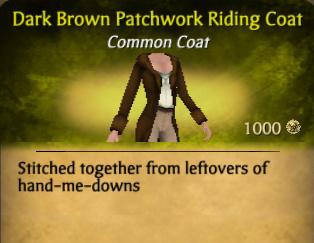 File:Dark Brown Patchwork Riding Coat.jpg