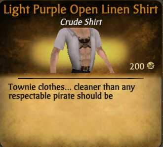 File:Light Purple Open Linen Shirt.png