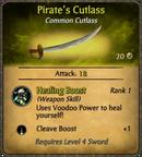 Pirate's Cutlass Card