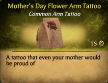 Mother's Day FlowerArm Tattoo
