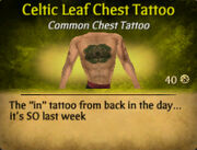 Celtic Leaf Chest Tattoo (2)