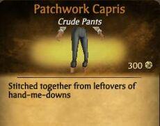 F Patchwork Capris