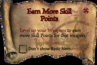 Scroll EarnMoreSkillPoints