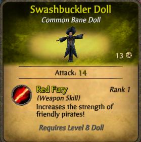 Swashbuckler doll-clearer