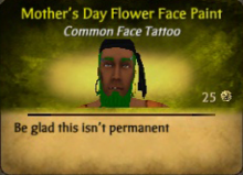 Mother's Day Flower FacePaint