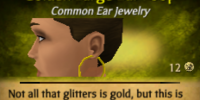 Golden Large Ear Loop